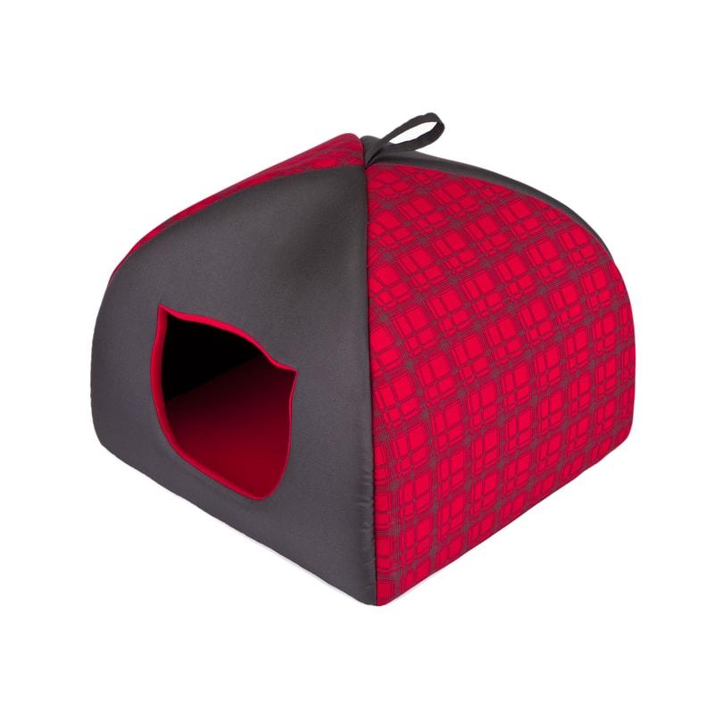 Reedog Iglu pro kočky Reedog Red Strips - S