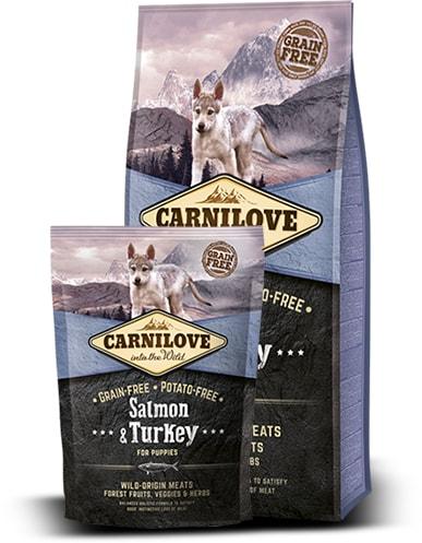 Brit Carnilove Dog Salmon & Turkey for Puppies 12kg